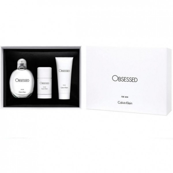 Calvin Klein Obsessed For Men EDT 125ml + Body Lotion 100ml + Deo Stick 75g