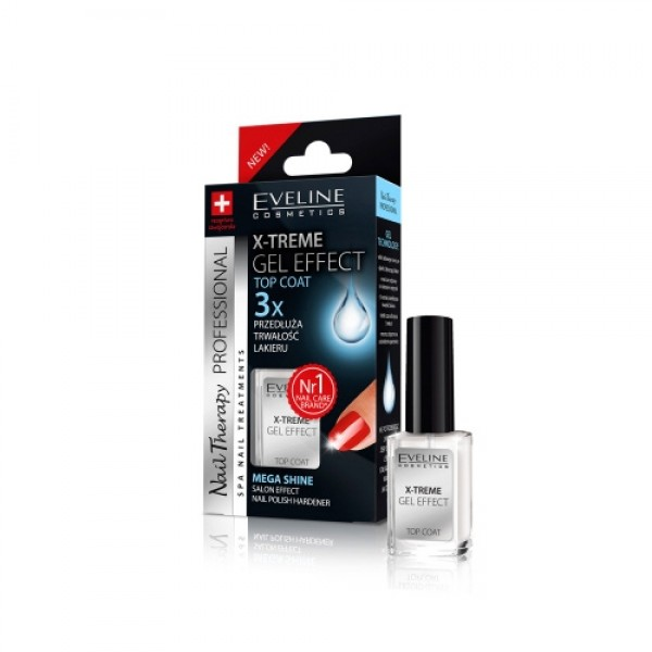 Top Coat Xtrem Efeito Gel Eveline Cosmetics 12mL