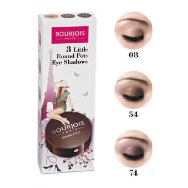 Bourjois 3 Little Round Pots Eye Shadow