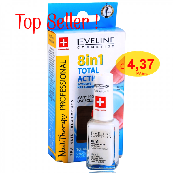 Verniz 8 em 1 Total Action Eveline Cosmetics 12ml