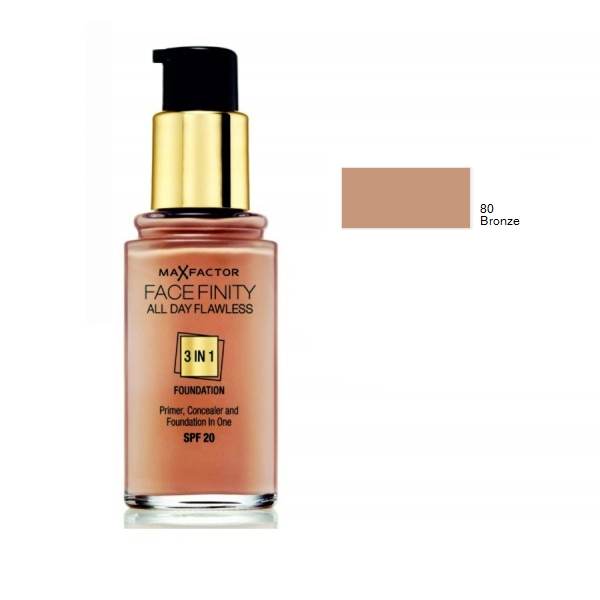 Base Face Finity 3 em 1 80 Bronze Max Factor 30mL